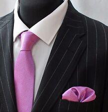 Tie Neck tie with Handkerchief Pink