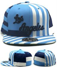 Los Angeles Lakers New Mitchell & Ness Retro Blue White Era Fitted Hat Cap 7 3/8