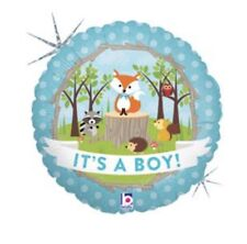 """It's A Boy Woodland Creatures 18"""" Balloon Baby Shower Decorations"""