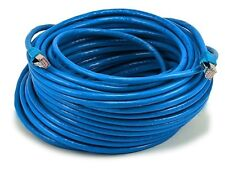 Monoprice Cat6A 26AWG STP Ethernet Network Patch Cable, 100ft Blue NEW