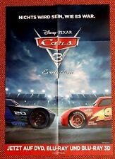 NEU! Disney Cars 3 Evolution Poster! 84x 60cm/Film/Plakat/Keine DVD/BRD/1/2/3