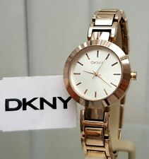 DKNY Ladies Designer Watch Rose Gold , Champagne dial Genuine RRP £169 (566)