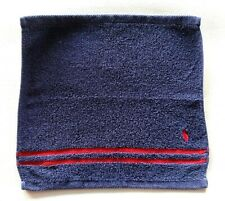 Ralph Lauren Small Face Towel Flannel Wash Cloth Dark Blue Pony