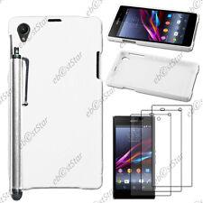 Housse Etui Coque Silicone S-line Blanc Sony Xperia Z1 L39H+Stylet+3 Film écran