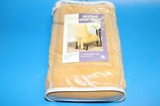 4 Sure Fit Cotton Gold  Dining Room Shorty Skirted Chair Cover