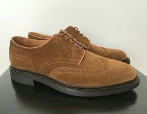 Mens Polo Ralph Lauren Asher Wingtip Snuff Tobacco Brown Suede Dress Casual Shoe