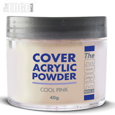The EDGE NAILS 40g Cool Pink COVER ACRYLIC POWDER Reduces Nail Ned Imperfections