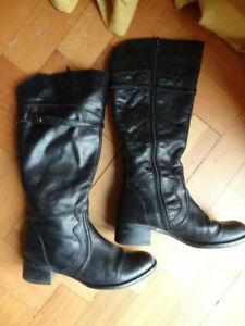 Size 5 Eu38 *M&S AUTOGRAPH* long black leather boots ladies