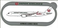 NOUVEAU A350-900 JAPAN AIRLINES STICKER AUTOCOLLANT AIRBUS - NEW