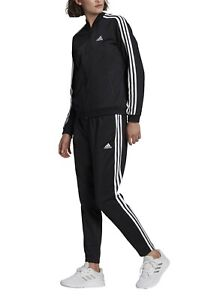 Tuta Donna Adidas Essential 3-Stripes Nero Slim Palestra Running Allenamento