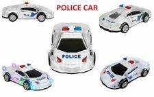 BUMP AND GO KIDS POLICE CAR WITH LIGHTS AND MUSIC BATTERY TOYS XMAS GIFT