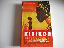 K7 VHS CASSETTE VIDEO-  KIRIKOU ET LA SORCIERE film de MICHEL OCELOT- DUREE 1H10