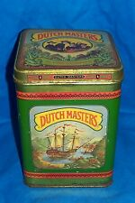 Old Dutch Masters Cigar Tin 25 Presidents Vintage Tobacco Box Case Advertising