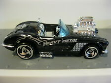 Hot Wheels 58 Corvette Roadster Blown 1:64 Diecast Black Skulls Heavy Metal
