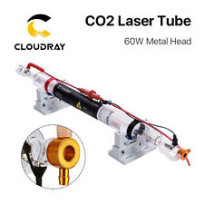 60w Co2 Laser Tube Metal Head 1250mm Glass Pipe For 60w Laser Engraver Cutter