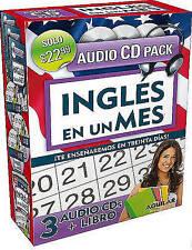 NEW Inglés en un mes (Libro + 3 CDs) (Ingles en 100 Dias) by Aguilar