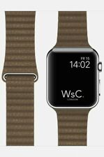The Watch Strap Co - Apple Watch 44mm Brown Leather Loop Strap
