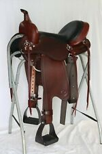 "Big Horn Trail Saddle 15"" FQH 5in Leather Skirt"