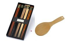 Japanese Style Chopsticks Gift Set Rice Paddle Included Natural