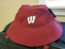 Os Wisconsin Badgers Burgandy Under Armour Boonie Hat-Nwt