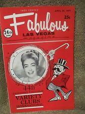 Fabulous Las Vegas Magazine Joan Crawford Abbe Lane Rock Hudson Ad 4/24/1971