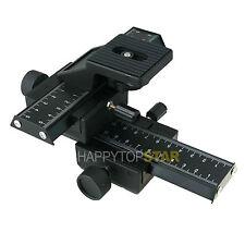 4 way Macro Rail Slider Bracket For NIKON D5 D7300 D810 D7200 D4 D700 D5300 EF