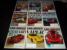 2012 CAR AND DRIVER MAGAZINE LOT OF 11 ISSUES - NICE AUTOMOBILE COVERS - M 636