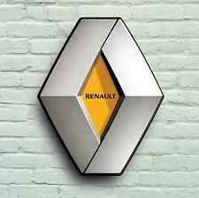 RENAULT LOGO 2FT GARAGE SIGN WALL PLAQUE CLASSIC WORKSHOP CAR 4 5 19 21 2CV 4CV