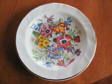"Fenton China Co small floral plate gold rim 4.75"" bone china"