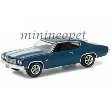 GREENLIGHT 51057 HOBBY EXCLUSIVE 1970 70 CHEVROLET CHEVELLE SS 454 1/64 BLUE