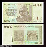 Zimbabwe 500000 (500,000) Dollars 2008 P-76 aUNC About Uncirculated Banknotes
