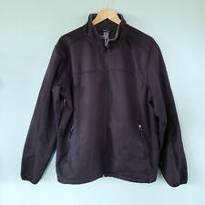 C9 Champion Men's Size L Full Zip Fleece Lined Jacket Black Zippered Pockets