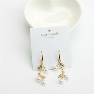 New Kate Spade New York Cherie Cherry Linear Earrings
