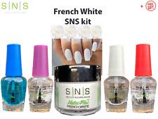 SNS Dipping Nail DIY Kit FRENCH WHITE 2Oz/56g Nude Dip Powder System SETs +FREE