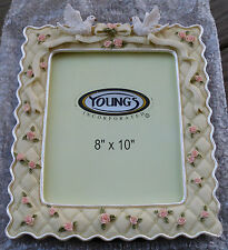 """Ornate Doves & Roses - Wedding Frame - """"Young's Unique Gifts"""" 8x10"""