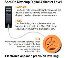Spot-On Nivcomp Pro Electronic Digital Altimeter Level Set with Extension Rods