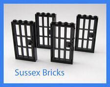 Lego City - 4x Gefängnis BARRED Türen und Rahmen 1x4x6 Burg Verlies-neue Teile