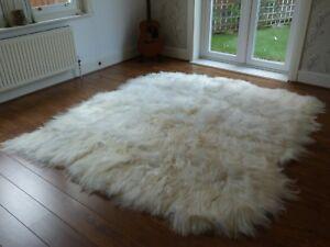 Best Quality Octo Natural Ivory White Icelandic Sheepskin Rug 8 Skins