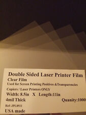 Clear Laser Printer Transparencies Qty: 1000 8-1/2x11 film paper