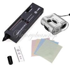 Jewelry Diamond Gemstone Selector Tester II+60X Loupe Magnifier+Free Cloth Set