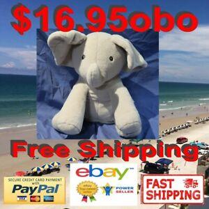 Baby GUND Flappy The Elephant Kids Plush Toy Peek-a-Boo Animated Talking Singing