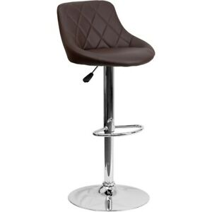 Flash Furniture Brown Contemporary Barstool, Brown - CH-82028A-BRN-GG