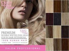 Extensions cheveux naturels à clips longs pour femme