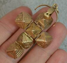 More details for rare vintage masons masonic solid 9ct gold ball fob or pendant d2075