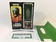 """Custom Vintage Star Wars 12"""" Insertos + Caja Morsa hombre"""