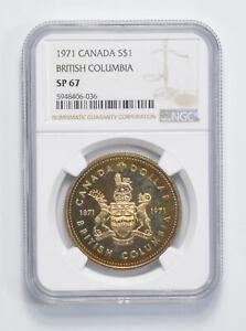 Toned - SP67 1971 - Canada $1 - British Columbia *350