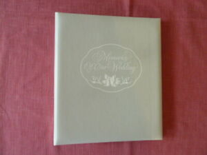 White Wedding Memory Book by Hallmark, Spiral Binding, Photo Sheets