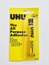 Original UHU ALL PURPOSE GLUE 20ml 125ml  SIZE TUBES  STRONG CLEAR ADHESIVE UK