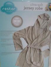 Bathrobe Luxury spa home night Robe  ultra Soft jersey hood Women one size