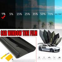Window Tint Film Black Roll 1% VLT Car Home House 76cm X 7m Tinting tools Kit AU